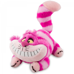 Cheshire Cat from Alice in Wonderland Plush in a playful laying position