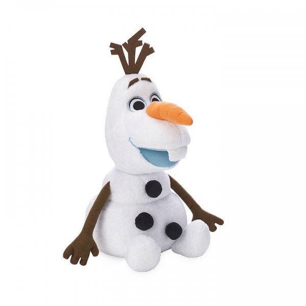 Olaf the Snowman from Frozen plush toy in a seated position