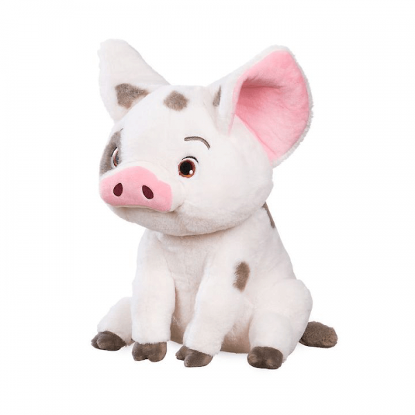Pua the pig from Moana plush toy in a seated position