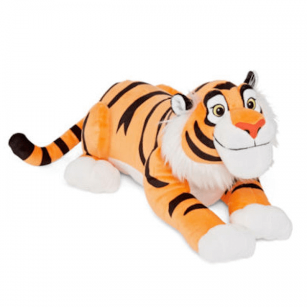 Raja the Tiger from Aladdin Plush in a laying position
